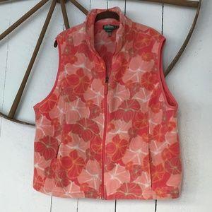 L.L Bean women's mod fleece POLARTEC vest